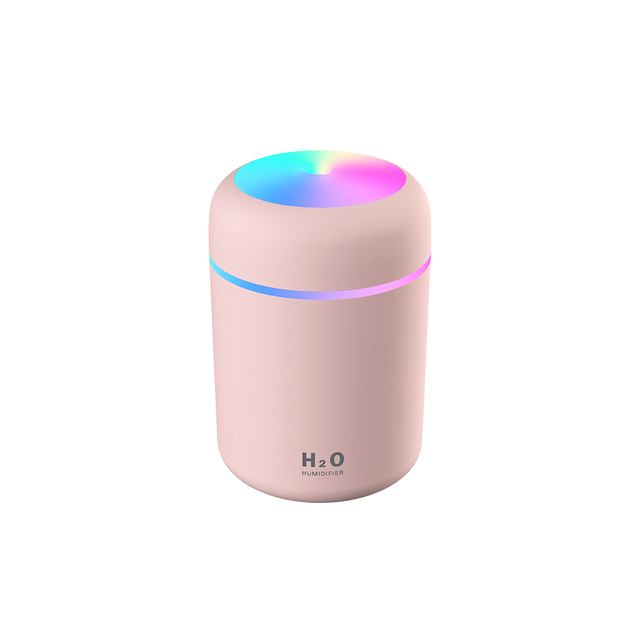 300ml Color Cup USB Air Humidifier Ultrasonic Aroma Diffuser with 7 Colors LED