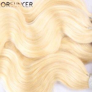 "Image 4 - Orsuncer 実体波 613 ブロンドバンドル中比 8 "" 26"" ペルー非レミー人間の髪織り 613 色の蜂蜜髪 1/ 3/ 4 pc"