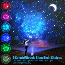 Newest Starry Sky Projector Light 360 Degree Rotation Night Light 6 Colors Stage Projector Light For Kid Gifts Party Decoration