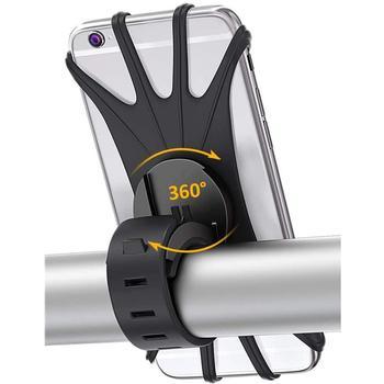 Силиконовый велосипедный держатель для телефона IPhone 11/6/7/8/X/Xr для xiaomi 4,0 6,1 дюймов, сотовый телефон, крепление, лента, велосипед, GPS зажим|Подставки и держатели|   | АлиЭкспресс