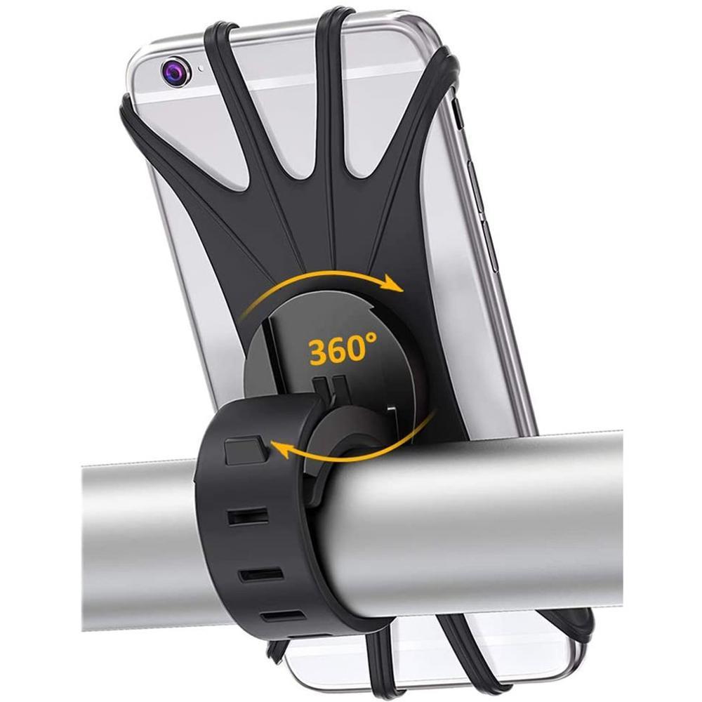 Силиконовый велосипедный держатель для телефона IPhone 11/6/7/8/X/Xr для xiaomi 4,0-6,1 дюймов, сотовый телефон, крепление, лента, велосипед, GPS-зажим