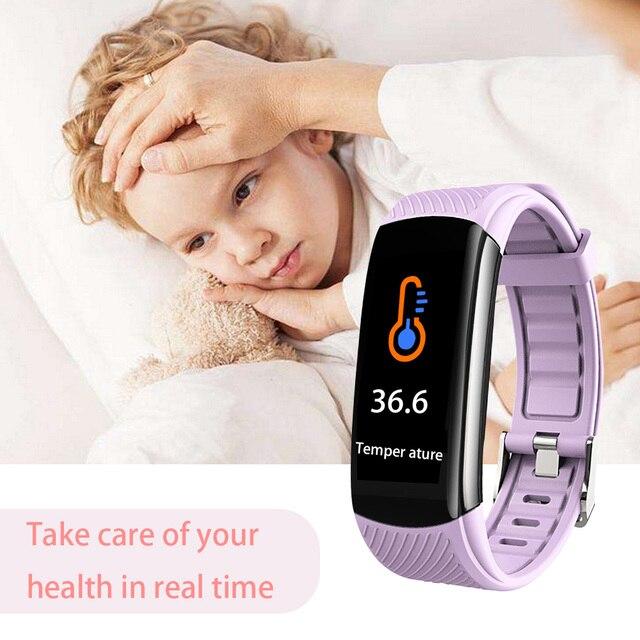 Heartrate Blood Pressure Smar Watch Body Temperature Blood Oxygen Waterproof Wristband 5