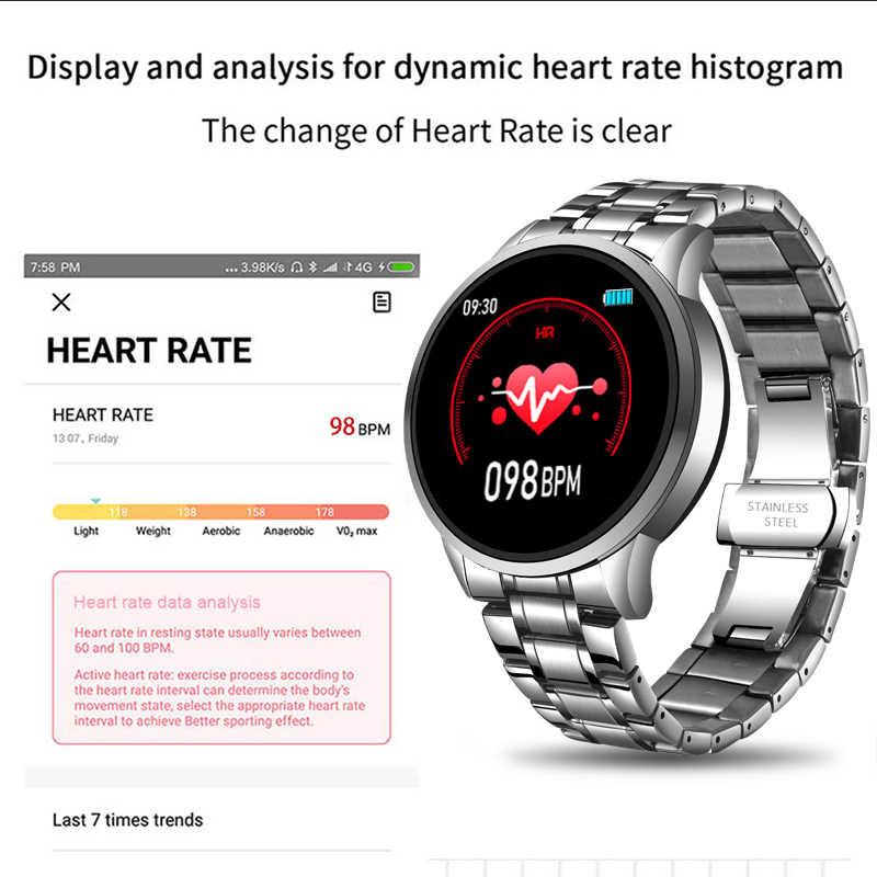 LIGE 2020 جديد ساعة ذكية الرجال معدل ضربات القلب ضغط الدم معلومات تذكير الرياضة مقاوم للماء ساعة ذكية للهاتف أندرويد IOS