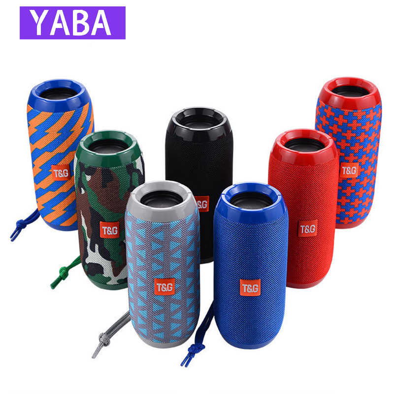 Yaba Tahan Air Bluetooth Speaker Outdoor Rechargeable Speaker Nirkabel Portable Soundbar Subwoofer Loudspeaker TF MP3 Built-In