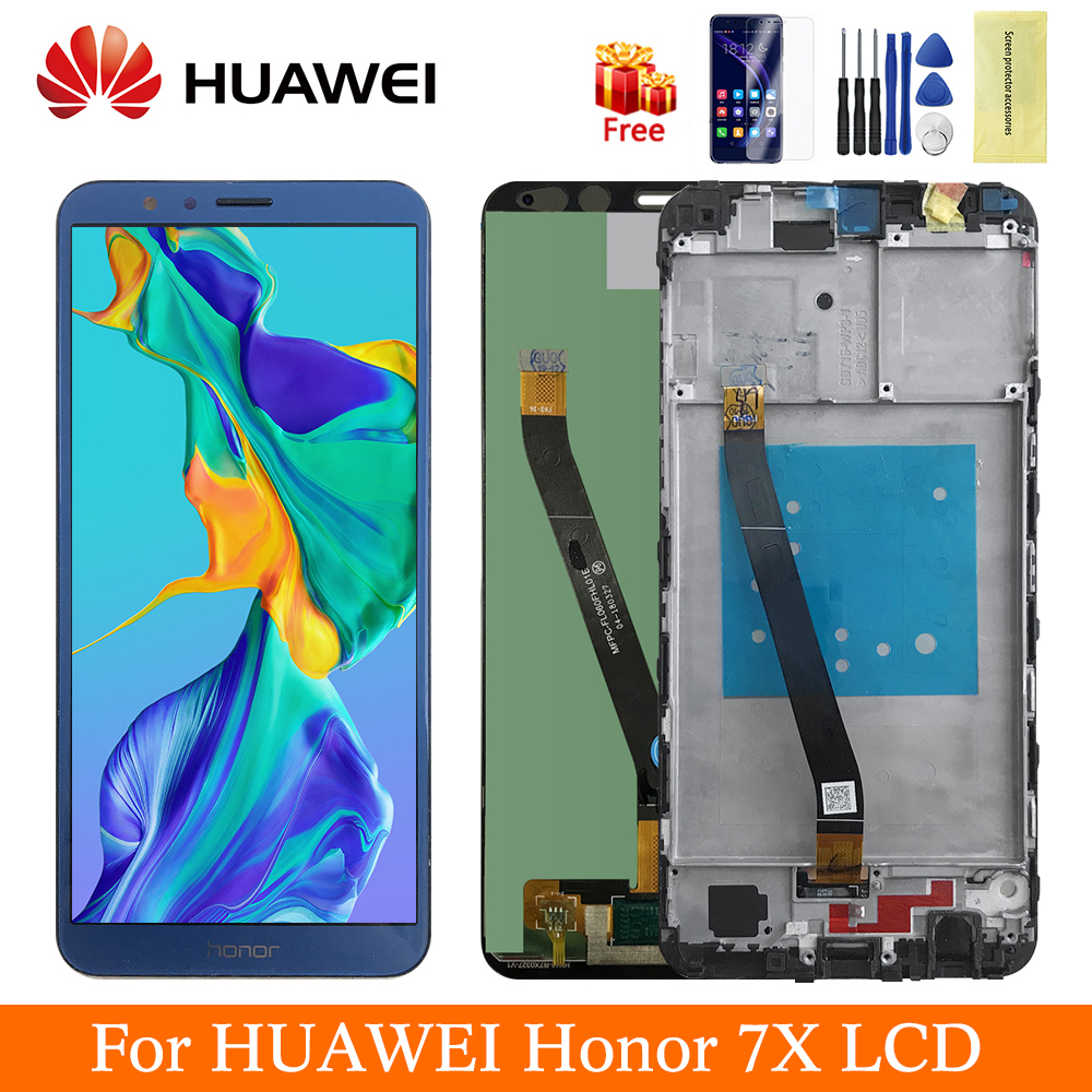5.93 Original For Huawei Honor 7X LCD Display Touch Screen Panel Digitizer Assembly Replacement For Honor 7X Display Screen LCD