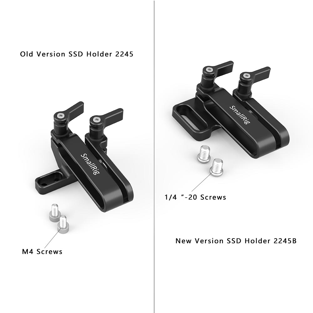 SmallRig Mount Samsung T5 SSD Card Holder Compatible SmallRig BBMPCC 4K 2203