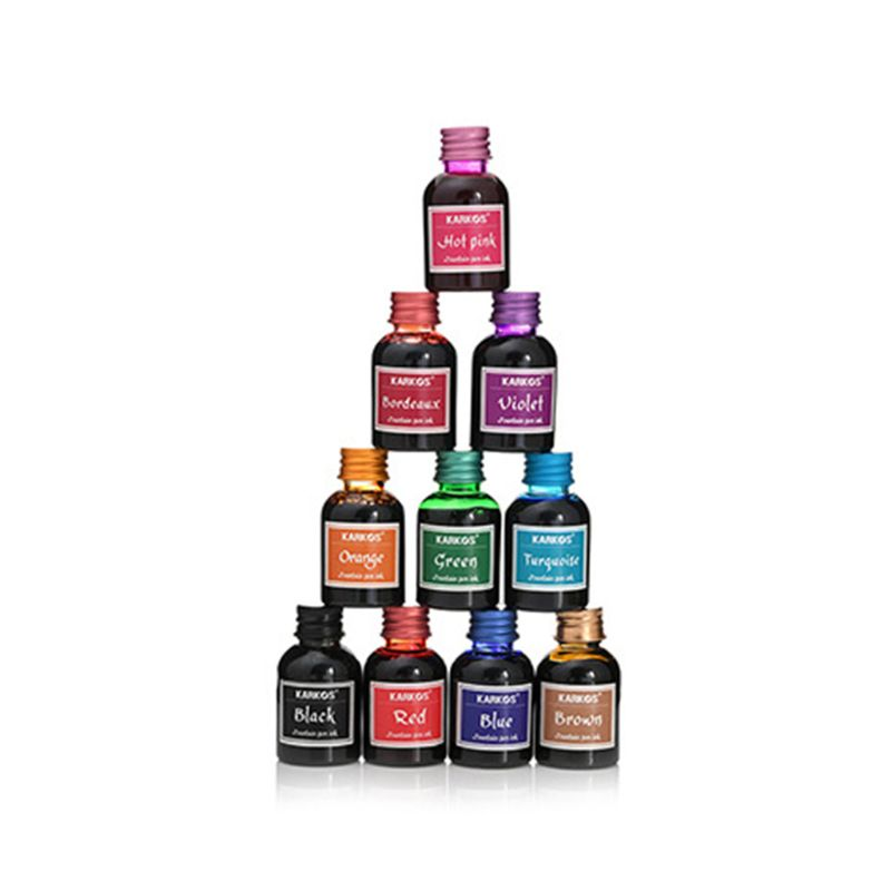 1 Bottle Pure Colorful 30ml Fountain Pen Ink Refilling Inks Stationery School Office Supply