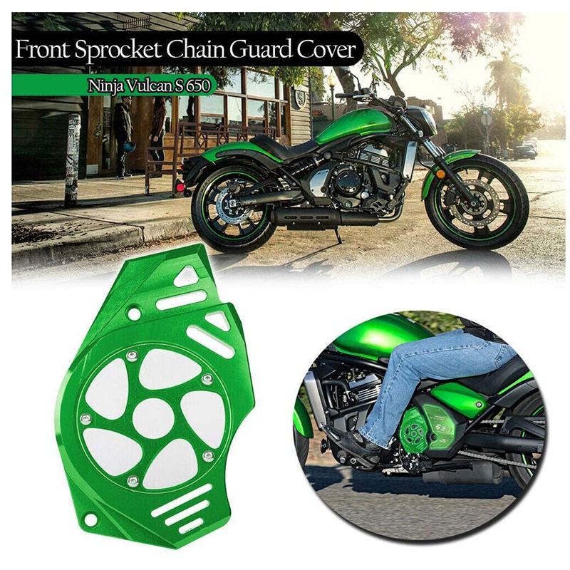 Front Sprocket Chain Guard Cover Engine Slider for Kawasaki Ninja 400 650R Vulcan S 650 EN650 KLE650 ER-6/N 2006-2016 enlarge