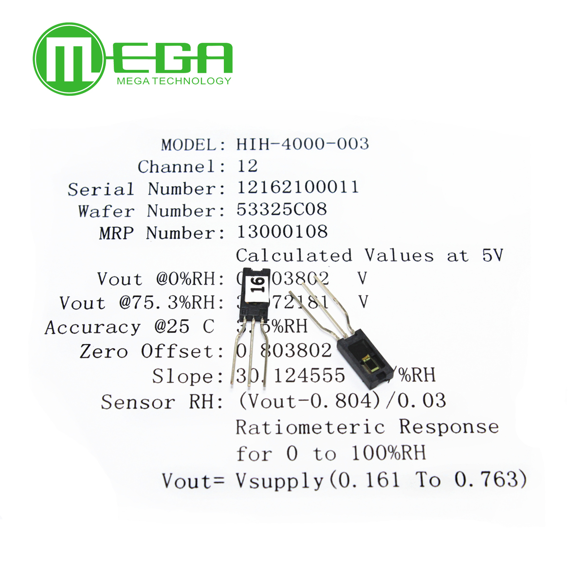 10pcs/lot   HIH4000  SIP Humidity Sensors  Full parts NO. HIH4000 003-in Integrated Circuits from Electronic Components & Supplies