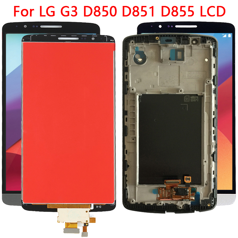 New IPS LCD For <font><b>LG</b></font> <font><b>G3</b></font> LCD Display Touch <font><b>Screen</b></font> Frame Replacement Digitizer Assembly For <font><b>LG</b></font> <font><b>G3</b></font> D850 D851 D855 LCD <font><b>Screen</b></font> image