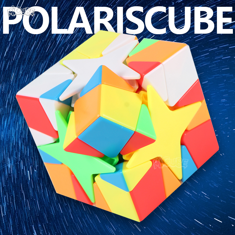 Moyu Meilong Polaris Cube Puzzle 3x3 Twist Cube 3x3x3 Specail Shape Hard Difficult 3*3*3 Stickerless Professional Game Cube Toys