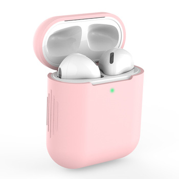Case For Apple Airpods 2 Wireless Headphones Colorful Universal For Apple AirPods 1 Sports Headphones Silicone Protective Cover image
