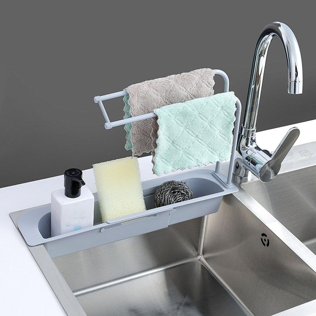 Домашний кран с зажимом для слива, кухонная раковина, тряпичный держатель для ванной, ящик для хранения мыла, новый держатель для губки, Мног...