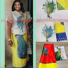 Hot sale Ghana Style satin silk fabric  with organza African wax design ! J61785