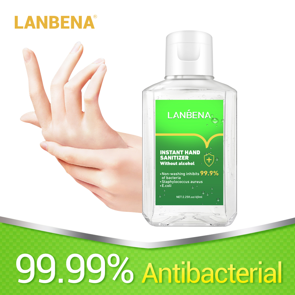 LANBENA Hand Sanitizer Waterless Wash Gel Natural Fungicide Sanitizer Antibacterial Silver Ion Efficient Disinfection Hand Care