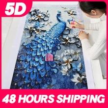 Meian 5D特殊形状ダイヤモンド塗装キット孔雀動物モザイクdotz刺繍アートフルドリルラウンドラインストーンピクチャーセット