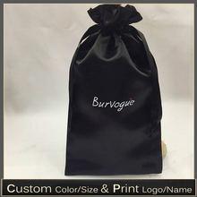 Атласная упаковочная сумка для шелковых мешков волос атласный