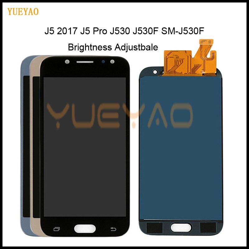 Brightness Adjustbale J530 LCD For Samsung J5 2017 Screen J530 J530F SM-J530F LCD Display Touch Screen Digitizer J5 Pro LCD