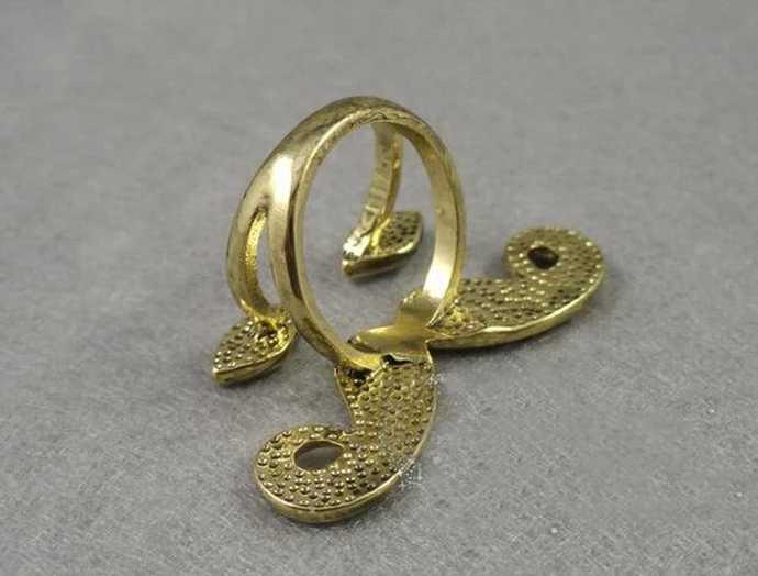 โบฮีเมีย Punk Vintage เงินเคลือบฟัน Eye คอสเพลย์หนวดแหวนสำหรับเครื่องประดับสตรี