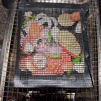 BBQ Grill Mesh Bag Reusable Grilling PTFE Nonstick Mat Oven Smoker Baking Accessories