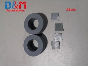 Pick Roller + Pad tire PA03334-0001 PA03334-0002 For Fujitsu fi-4530C fi-5530C fi-5530C2 fi-5530 fi4530C fi5530C fi5530C