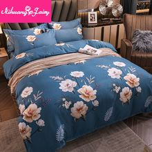 Thickened pure brushed four-piece simple quilt cover sheet three-piece quilt cover bedding