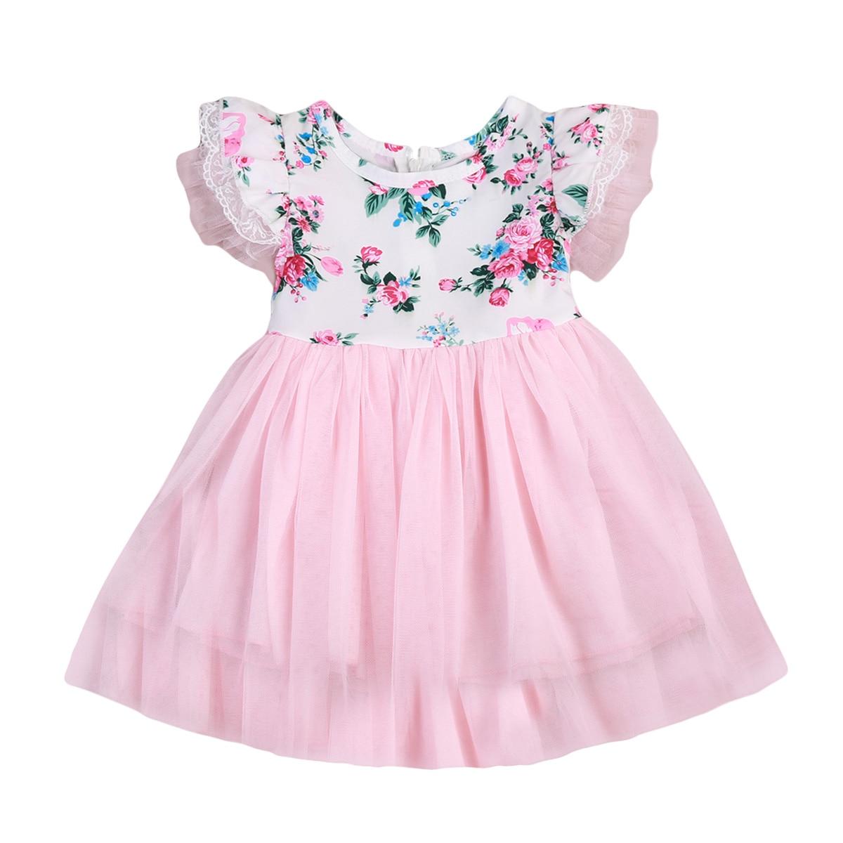 Newborn Baby Girls 1T-6T Kids Toddler Princess Dress Pageant Wedding Tulle Tutu Dress