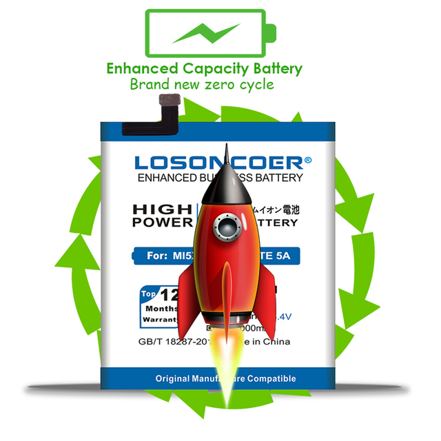 LOSONCOER 450mAh 616-0467 For Nano 5 High Quality Battery for iPod Nano 5 5th Gen Phone Battery Free tools Stand Holder Stickers