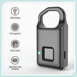 Zamek do drzwi z czytnikiem linii papilarnych USB do ładowania inteligentny centralny zamek z Anti-Theft kłódka