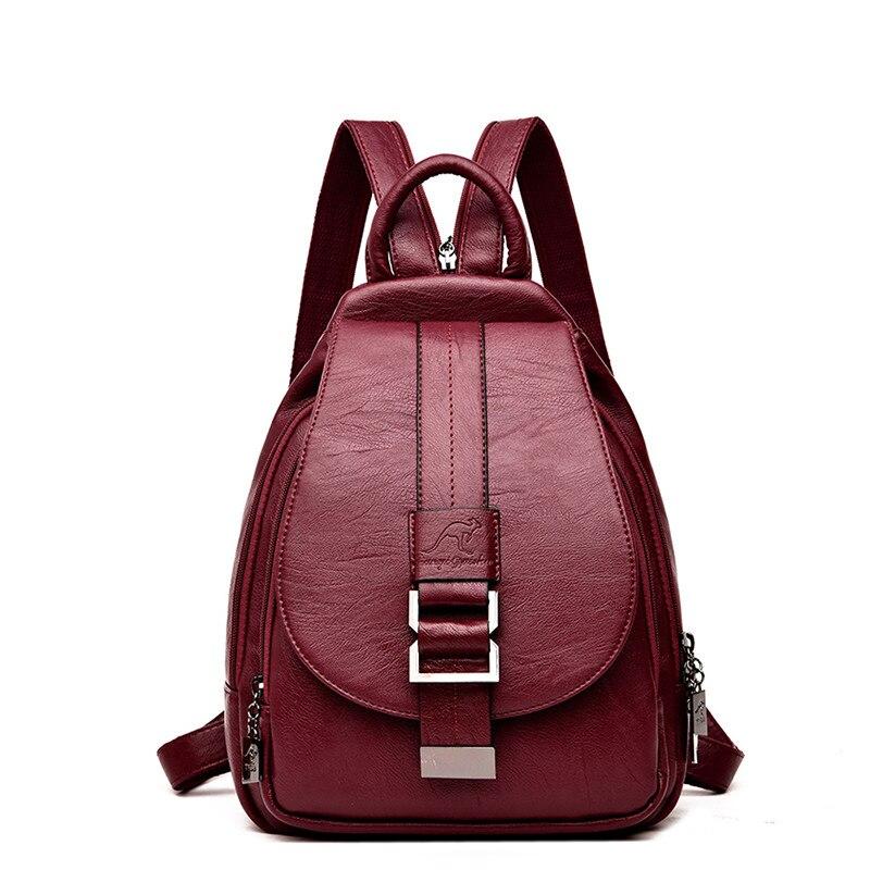 2019 Women Backpacks Genuine Leather Vintage Female Shoulder Bag Sac A Dos Travel Ladies Bagpack Mochilas School Bags For Girls