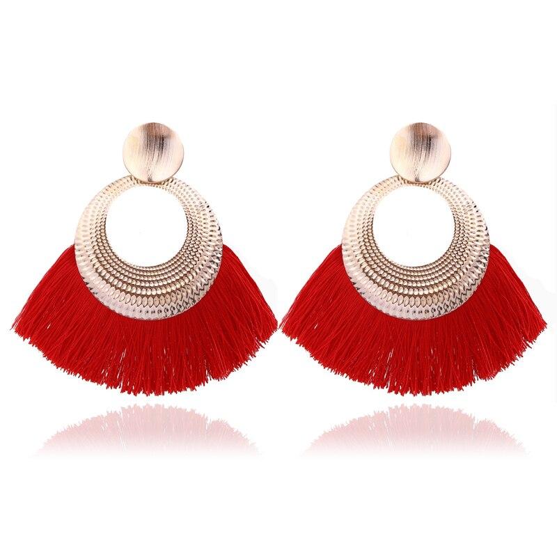 LATS 2020 Long Tassel Earrings for Women Big Fashion Statement Dangle Earring Bohemian Fringe Vintage Earring 3