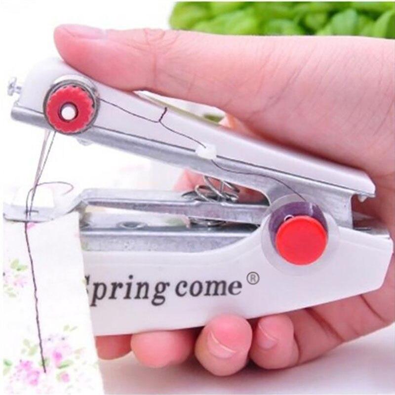 Портативная ручная швейная мини-машина, простой в использовании домашний швейный инструмент, мини-швейная машина