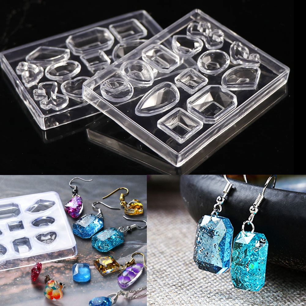 1pcs  Pendant Earring Geometric Silicone Mold For Resin Craft Making Tool Handmade Decoration Epoxy Resin For Jewelry