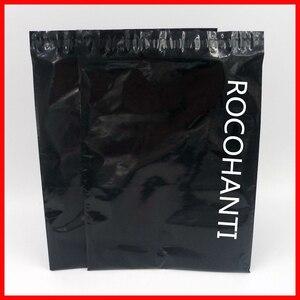 Image 1 - 100x Tùy Chỉnh In Logo Màu Đen Bóng Nhựa Màu Bao Thư Gửi Thư Túi Tự Dính Chuyển Phát Nhanh Túi cho Bài Shop Online
