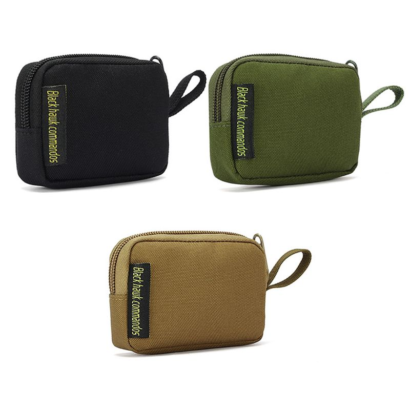 Mini Outdoor Accessories Bag for Earphone EDC Key Bag Coin Purse Ranger Green Wallet Tool Bag HF