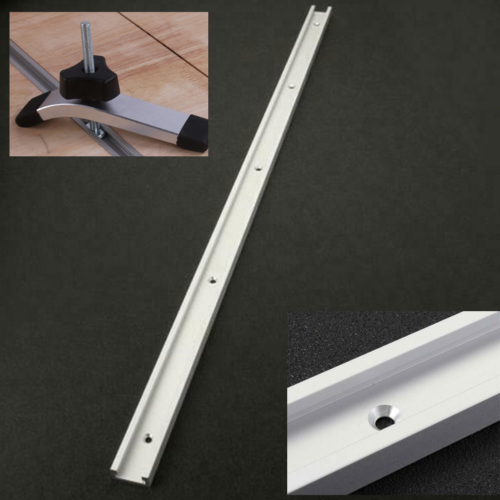 Wide Use DIY Home Woodworking Fixture Router Table Sliding Miter Track With Scale Multifunction Tool T Slot Portable Jig