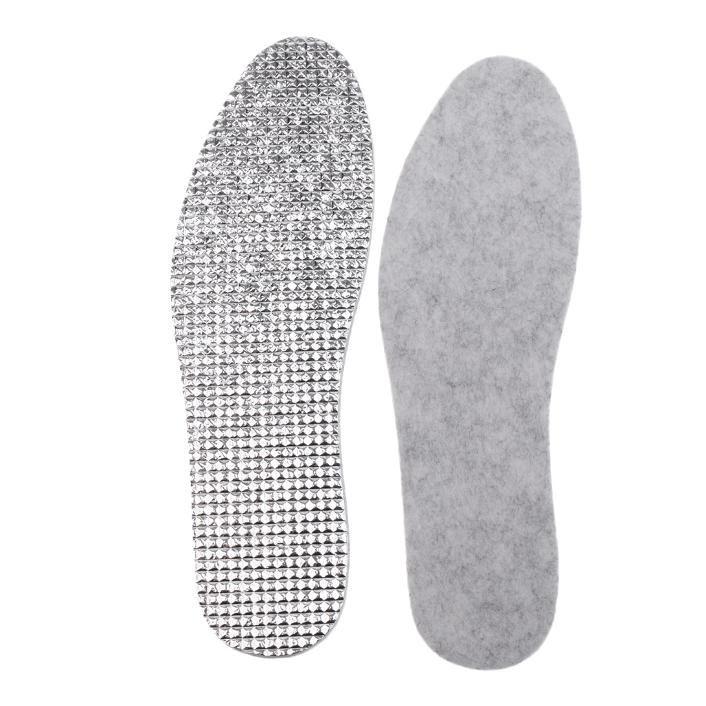 Aluminum Foil Shoe Insole Keep Warm Tailorable Shoe Inserts Heel Cushion
