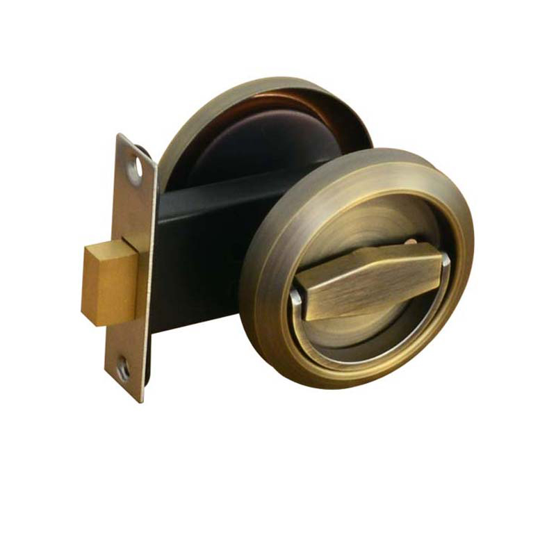 Double-sided Lock 304 Stainless Steel Sliding Door Invisible Cup Handle Locks