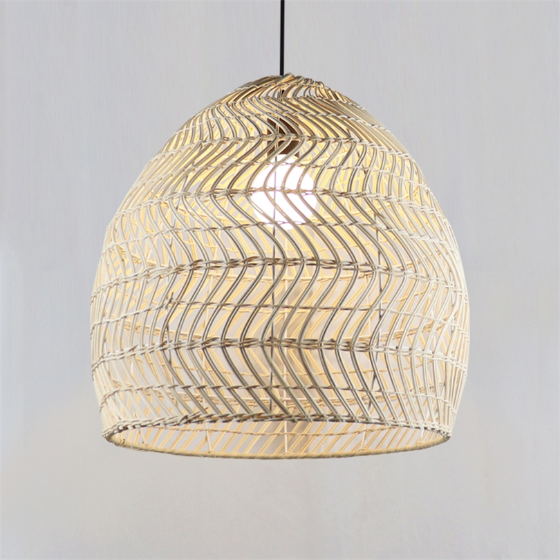 Designer Pendant Light Southeast Asian Rural Hanging Lights Rattan Woven Lamps Restaurant Clubhouse Shop Birdcage Lamp Fixtures
