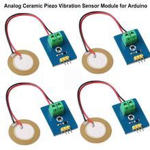 DIY KIT 3,3 V/5 V Керамический пьезо Вибрационный модуль датчика аналоговый контроллер компоненты электрооборудования датчик для Arduino UNO R3