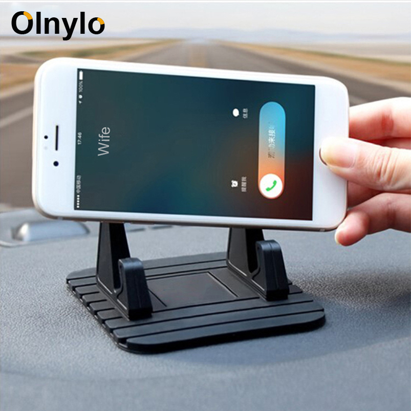 Car Phone Holder Bracket Dashboard Non-slip Rubber Mat Phone Mount Mobile Holder For IPhone 11 XR Samsung A50 Phone Stand In Car