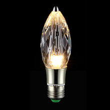 MS-MiSSYOU Pointed end Crystal LED Bulb High Grade K9 Crystal Led Light Indoor Downlight Bulb 5W for Home Hotel Decoration