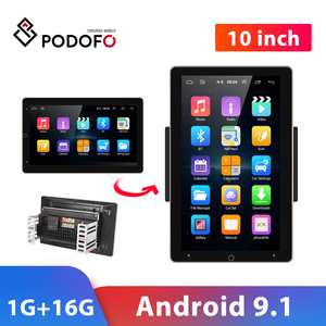 """Image 1 - Podofo Car Radio 2 Din Android GPS Wifi Audio Stereo Navigation Car Stereo 10"""" Universal Car Player for VW Polo golf 5 6 Toyota"""