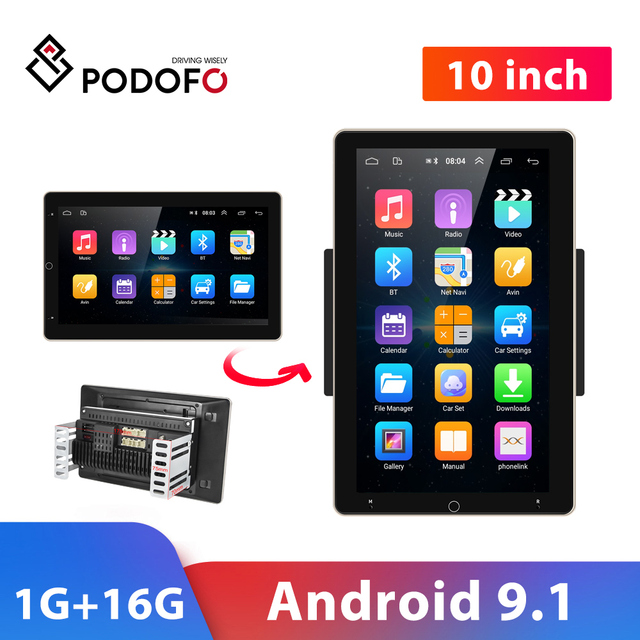 """Podofo Car Radio 2 Din Android GPS Wifi Audio Stereo Navigation Car Stereo 10"""" Universal Car Player for VW Polo golf 5 6 Toyota"""