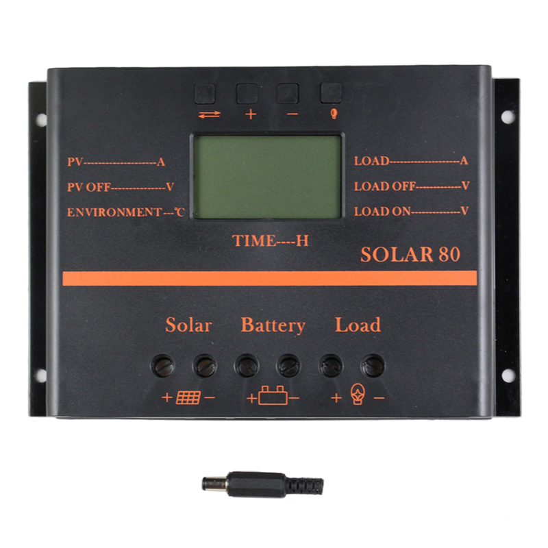Y/&H 30A Solar Panel Charge Controller for 12V 24V Lead acid//lithium Battery with Dual USB Backlight LCD Display and Timer Setting ON//Off Hours