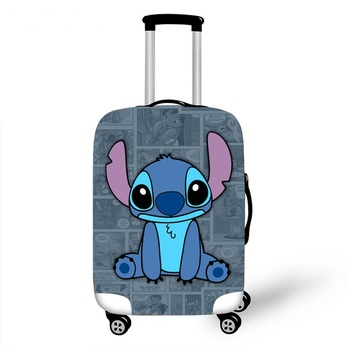 Cartoon 3D Stitch Luggage Case Protective Cover Cute Animal Waterproof Elastic Suitcase Cover For 18-32Inch XL Travel Accessorie