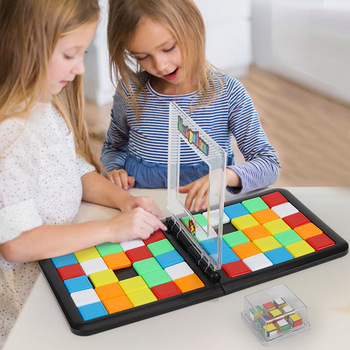 Parent-Child Interactive Colorful Battle Sport Game Puzzle Cube 3D Puzzle Race Cube Kids Adults Desktop Game Education Toys Gift shark bite game funny toys desktop fishing toys kids family interactive toys board game