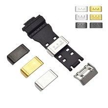 Metal loop titular locker moldura anel pulseira de relógio acessórios para casio huawei relógio preto ouro prata 18mm 20mm 22mm 24mm