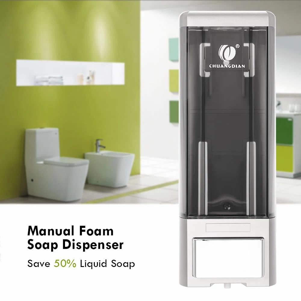 Anself  Manual Single Bottle Wall Mount Soap Dispenser 500ml Liquid Hand Cleanser