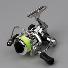 EMMROD Mini100 Spinning Angeln Reel 2 + 1BB 4,3: 1 metall Spool Rad Alloy Angeln Tackle Spinning Reel pesca Kleine Eis Rolle
